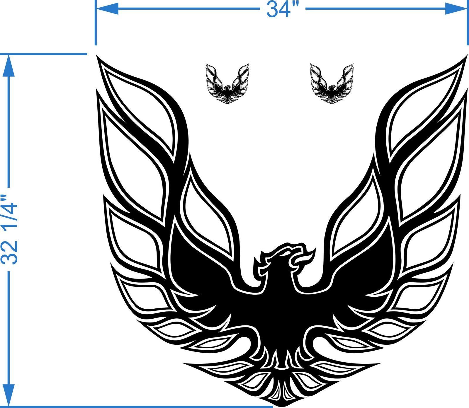 Kit Firebird Trans Am Hood Bird Decal Graphic Pontiac.