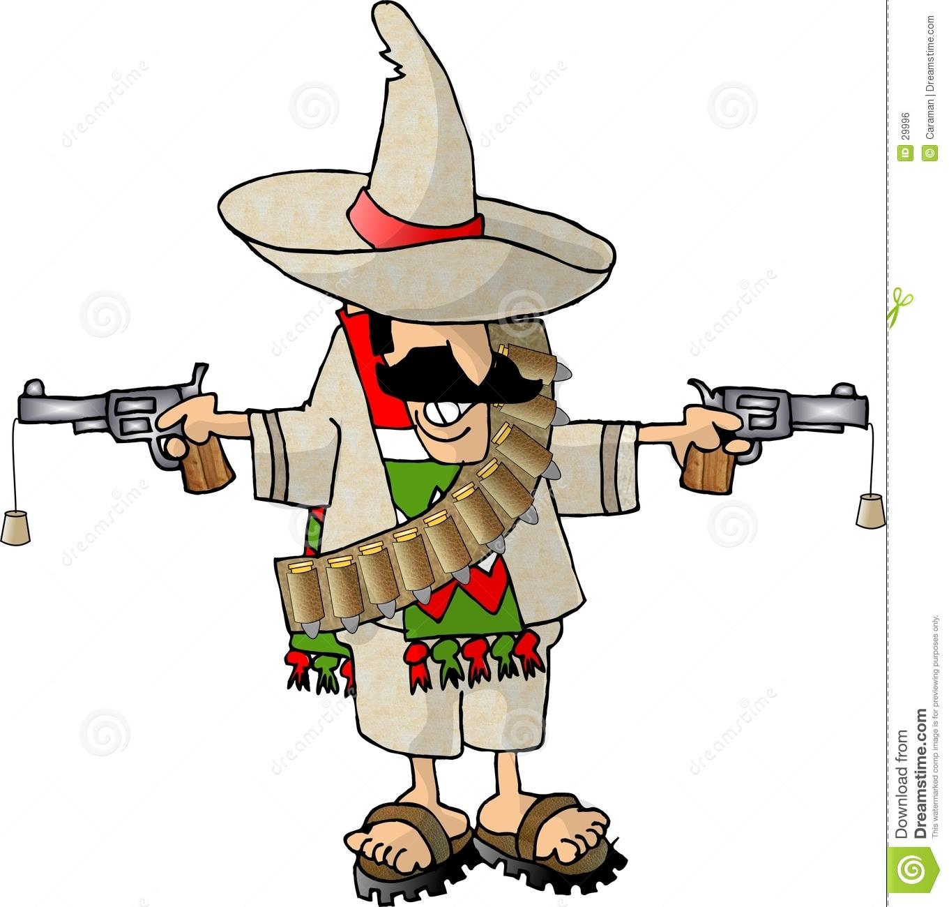 Mexican Bandito Royalty Free Stock Image.