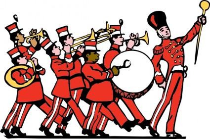 Marching Band Clip Art.