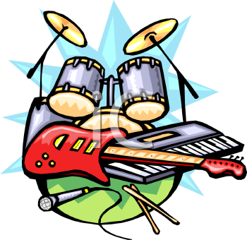 Battle of the bands clipart.