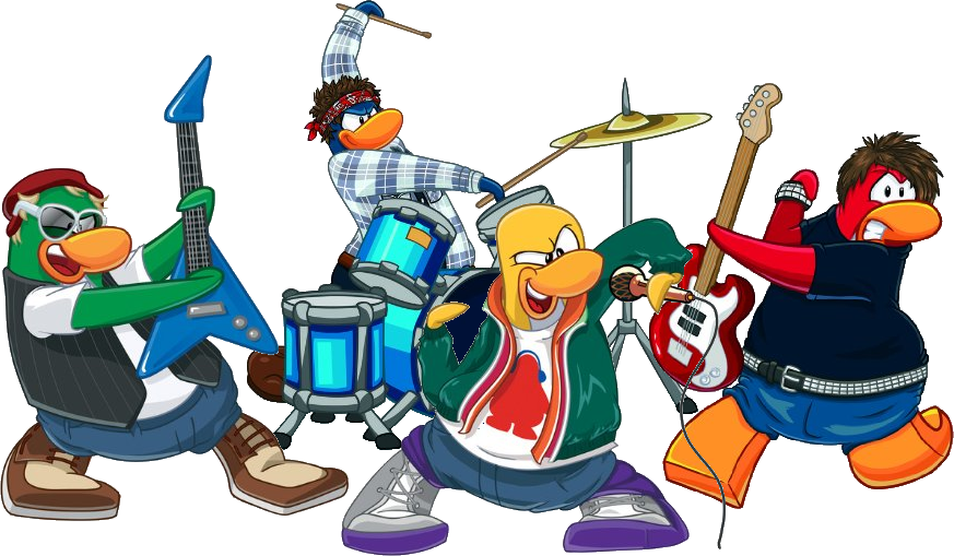 Clip art for rock bands.