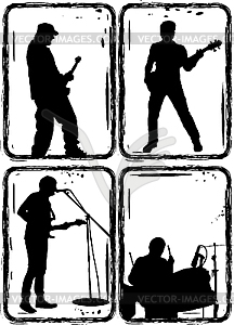 Rock Star Bands Clipart.