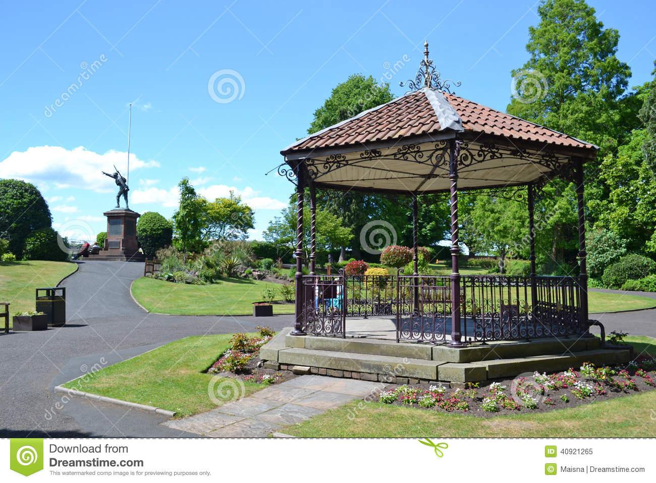 Bridgnorth Bandstand Stock Photo.