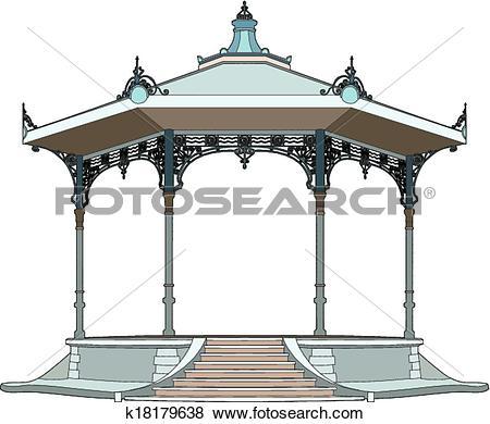 Clip Art of Pretty bandstand k18179638.