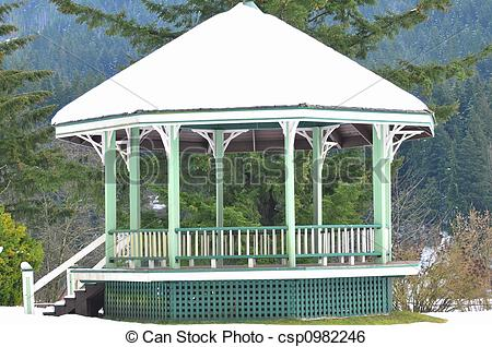 Stock Image of bandstand.