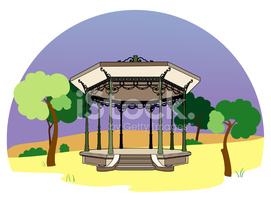 Bandstand IN The Park stock vectors.