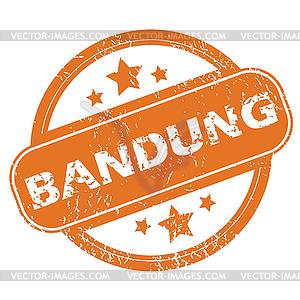 Bandung round stamp.