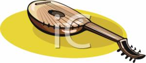 Clipart Picture of a Stringed Instrument.