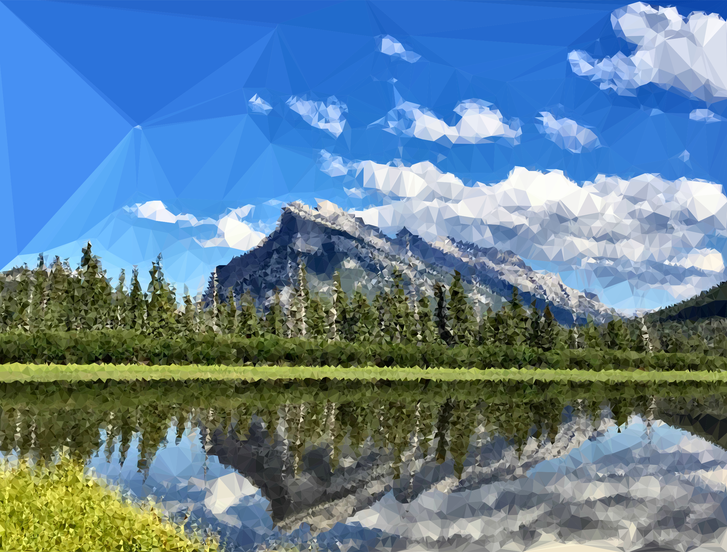 Clipart Low Poly Banff National Park Canada.