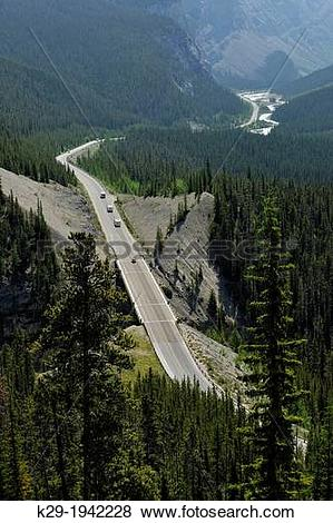 Pictures of Icefelds Parkway from the Big Bend viewpoint, Banff.