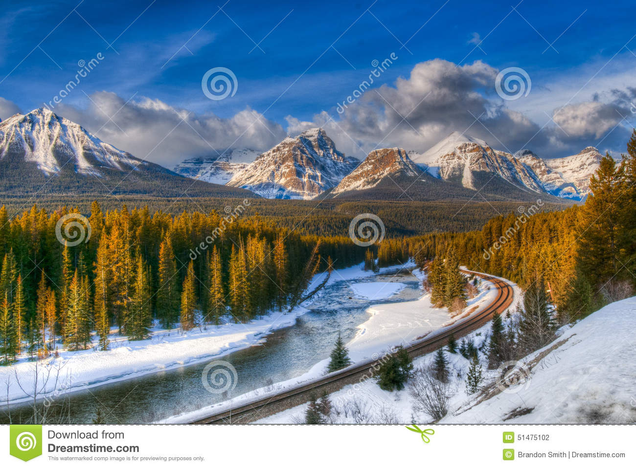 Winter In Banff National Park Stock Photo.