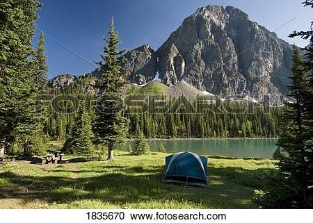Stock Photography of Taylor Lake, Banff National Park, Alberta.
