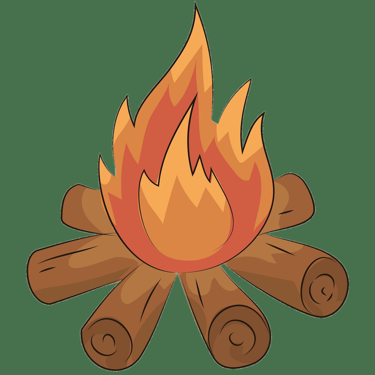 Bonfire clipart. Free download..