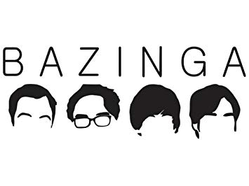 Sticker Black Big Bang Theory Bazinga Silhouette Decal Window New.