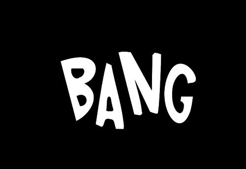 Bang callout vector drawing.