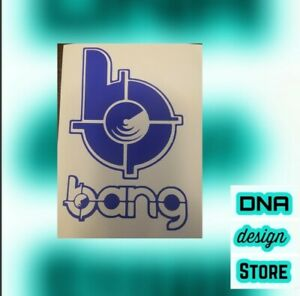 Details about Bang Energy Drink logo blue white pink green&black  decalsticker FREESHIPPING!!!!.