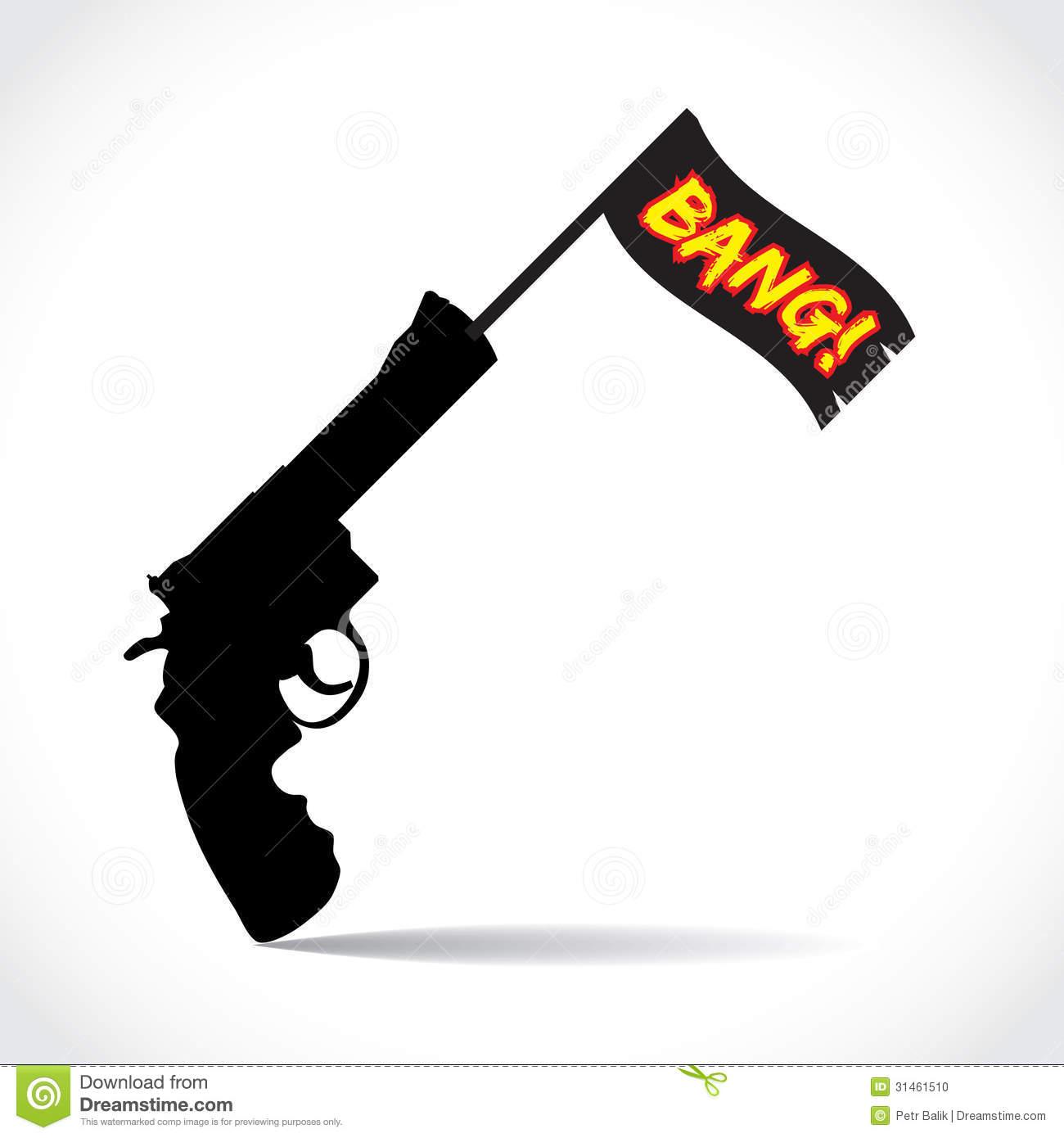 Gun Flag Clipart.