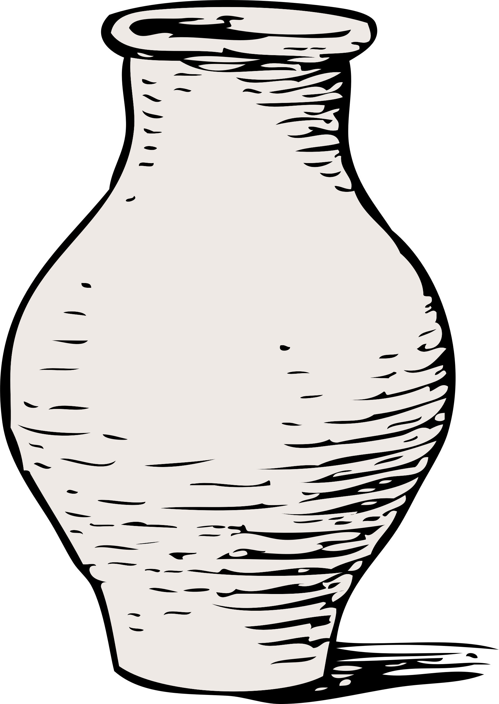 Clay Pot Clipart Black And White , Transparent Cartoon.