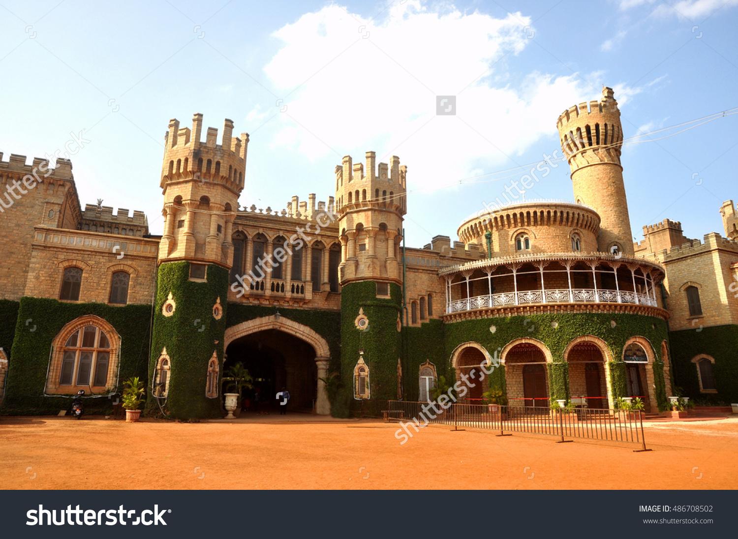 Bangalore Palace Famous Iconic Landmark Bangalore Stock Photo.