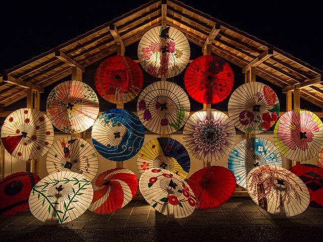 Free photo Tea Bangasa White Japan Umbrella K.