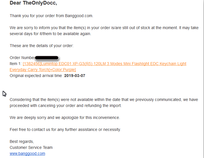 Something is not right with banggood and shipping times.