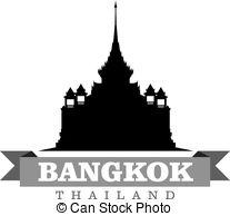 Bangkok thailand Vector Clip Art Illustrations. 919 Bangkok.