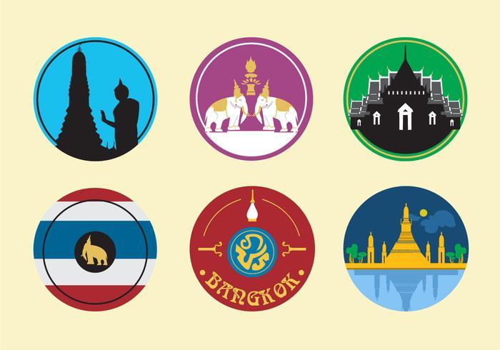 Bangkok City Icons.