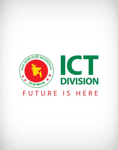 ict division bangladesh vector logo.