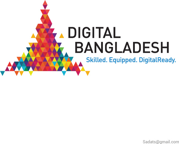 Digital bangladesh logo Free vector in Adobe Illustrator ai ( .ai.