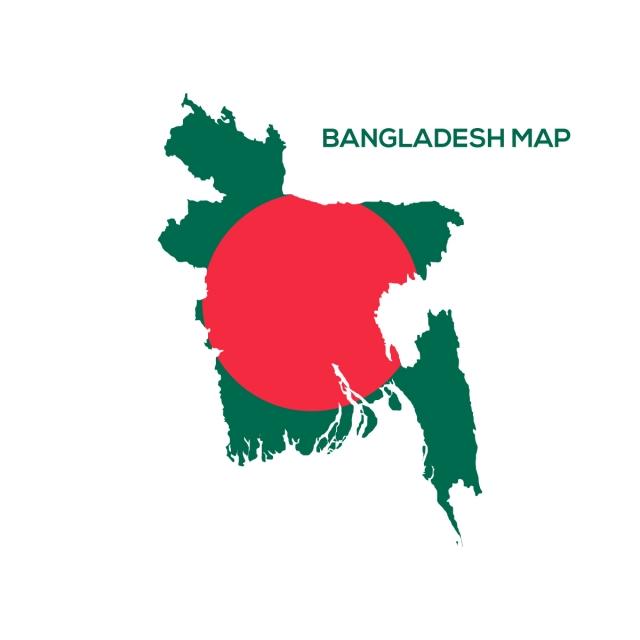 Flag Map Of Bangladesh Logo Vector, Bangladesh Flag, Bangladesh Map.