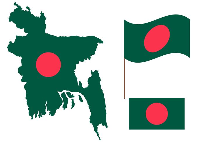 Free Bangladesh Map Vector.