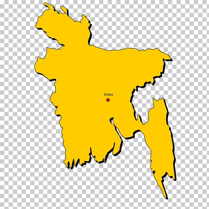 Bangladesh Map , Physische Karte PNG clipart.