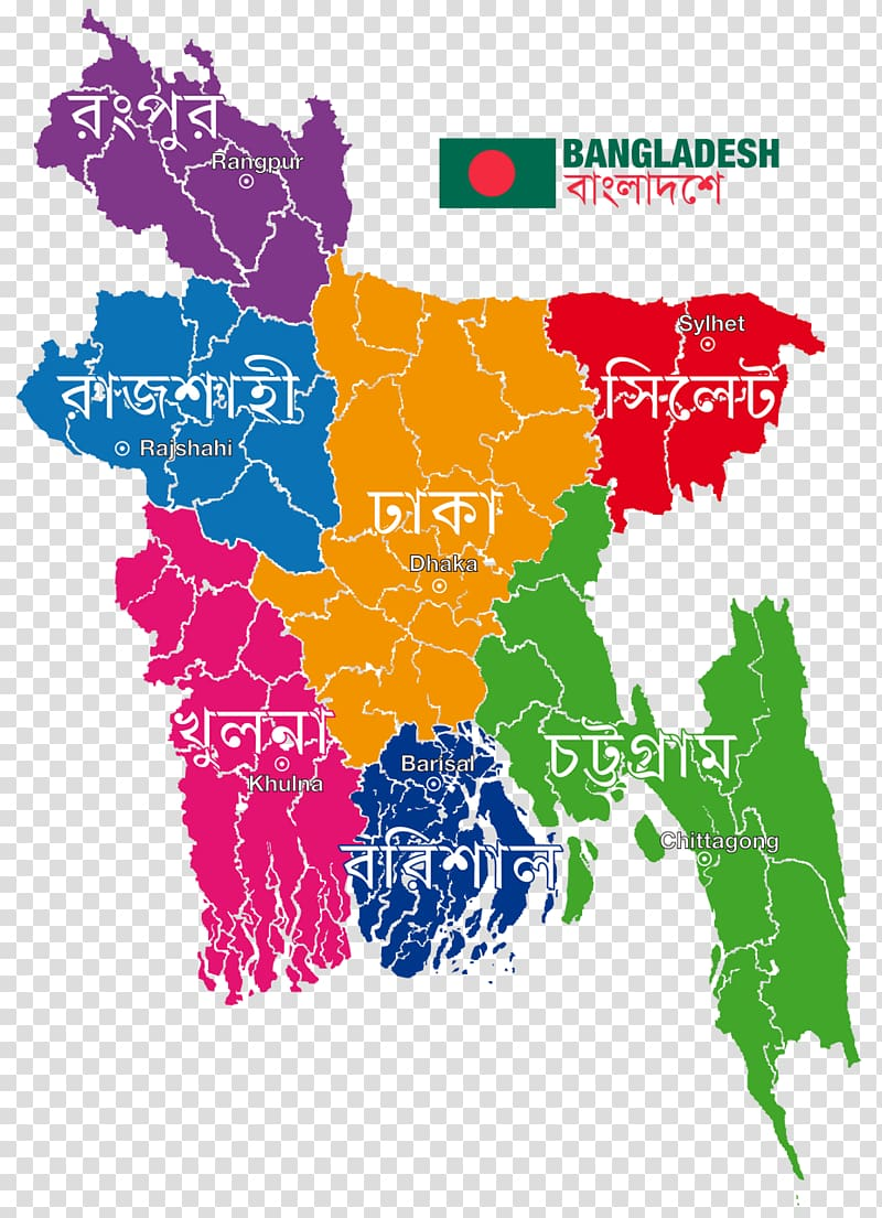 Bangladesh Map, map transparent background PNG clipart.