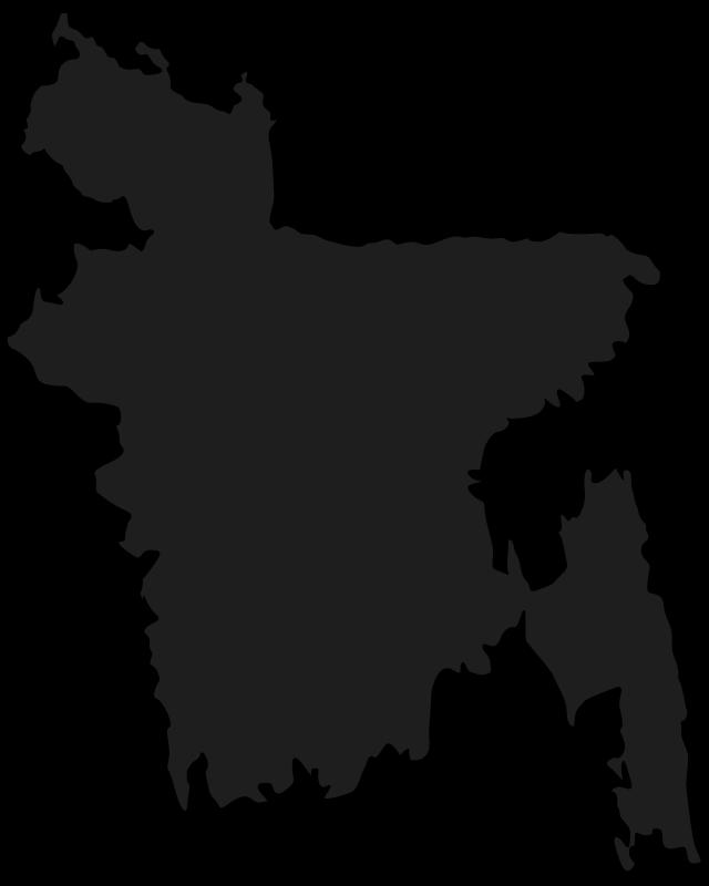 Free Clipart: Map of Bangladesh.