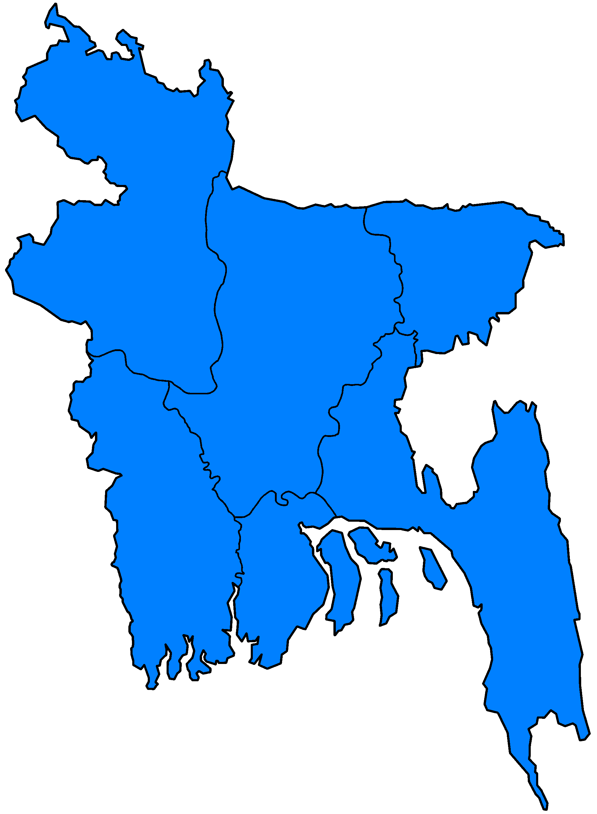 File:Bangladesh divisions flood hit between July 3 and August 15.