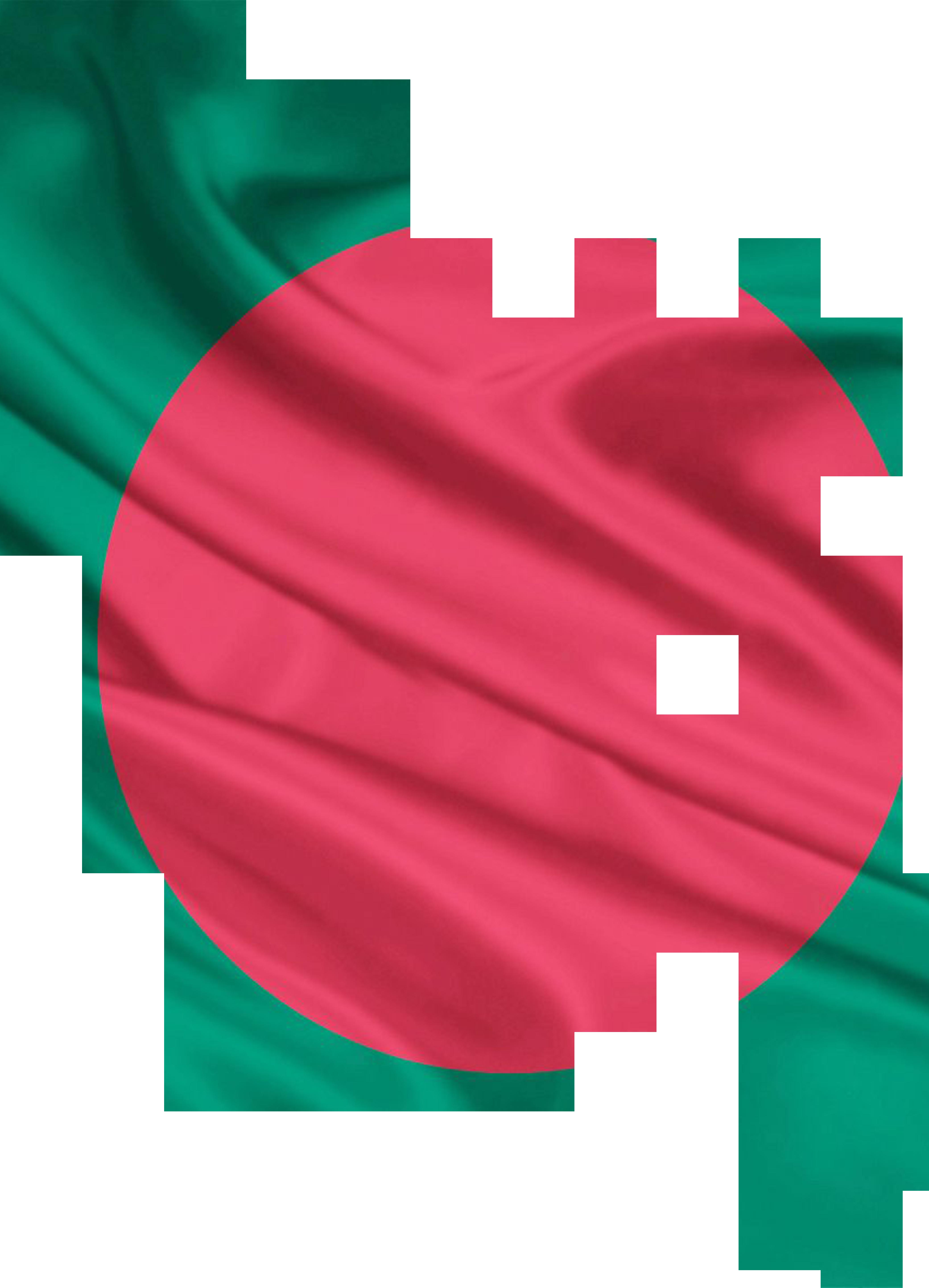 Bangladesh flag & map PNG Image.