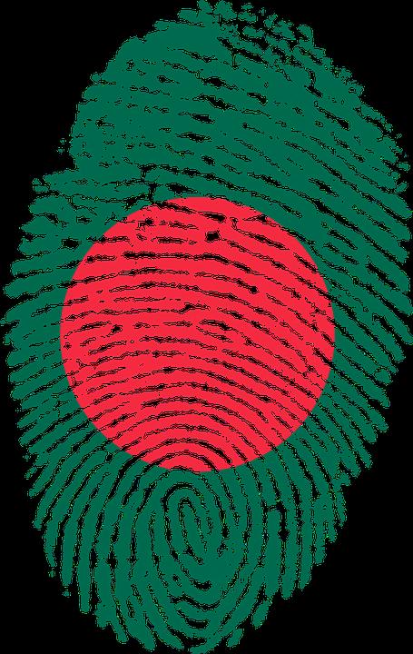 Bangladesh Flag Fingerprint.