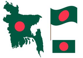 Bangladesh Map Free Vector Art.