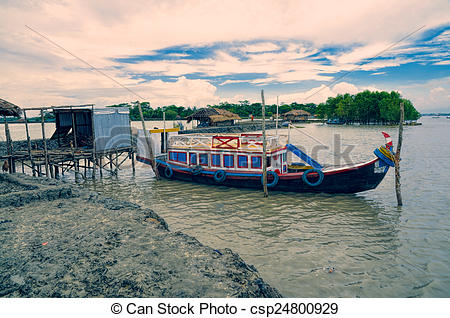 Stock Photo of Boat in Bangladesh.