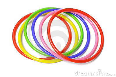 Plastic Bangles Stock Photo.