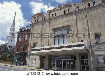 Stock Photo of theatre, Bangor, Maine, ME, Bangor Opera House.