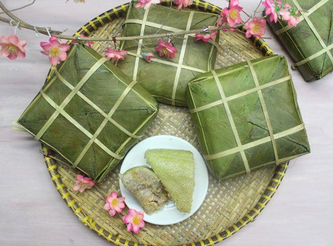 Vietnamese Banh Chung Cake.