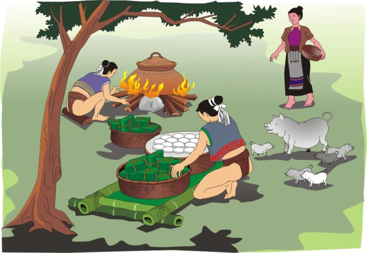 Banh chung banh day clipart images gallery for Free Download.