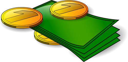 Imagini de vector bani.