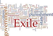 Exile Stock Illustrations.