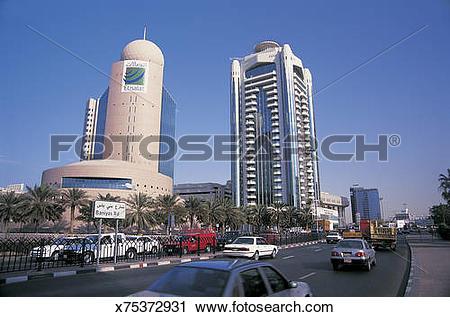 Stock Photography of Baniyas road, Deira, Dubai, UAE x75372931.