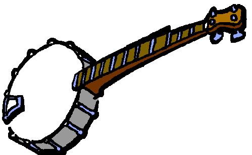 Clip art banjo.