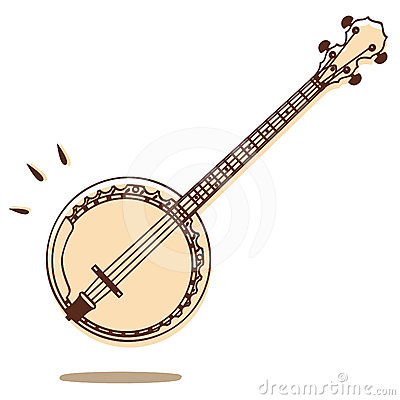 Banjo Stock Illustrations.