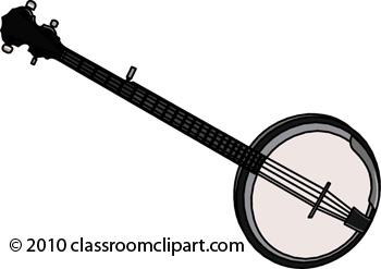 Banjo Clip Art Page 1.
