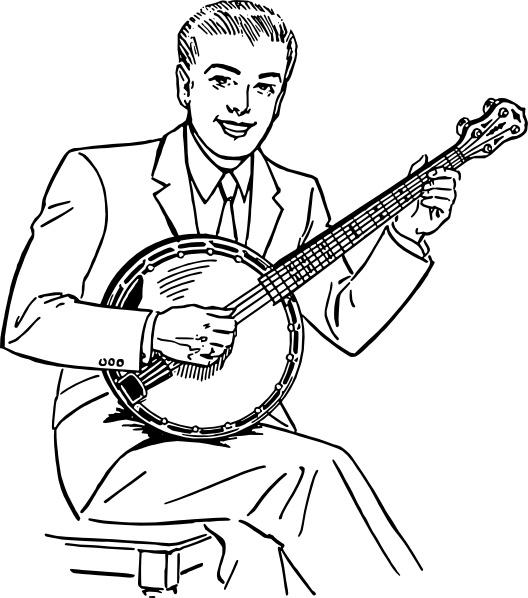 Free banjo clip art.